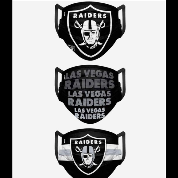 LAS VEGAS RAIDERS MATCHDAY 3 PACK FACE COVER